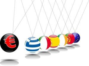 Pendulum of Euro and PIIGS