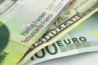 Swiss franc, US dollar, Euro