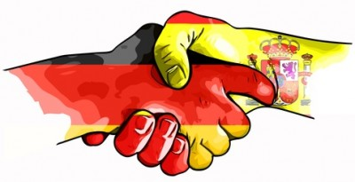 handshake germany spain