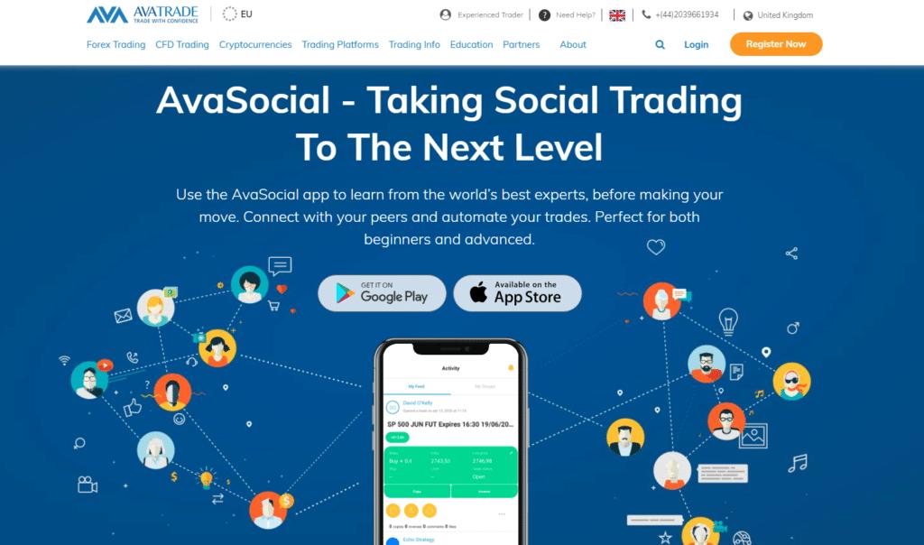 AvaSocial copy trading platform