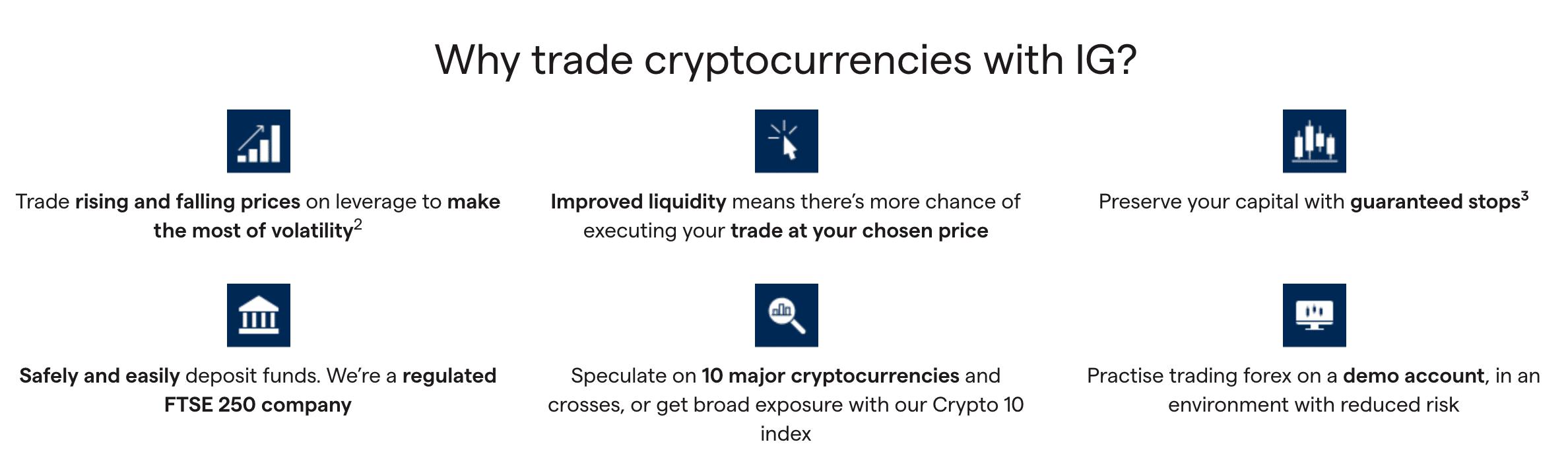 IG crypto trading