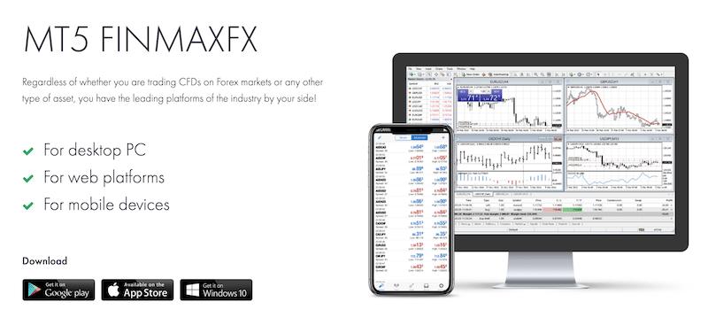 FinmaxFX MT5 - broker leverage
