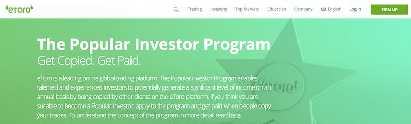 eToro investor popular program