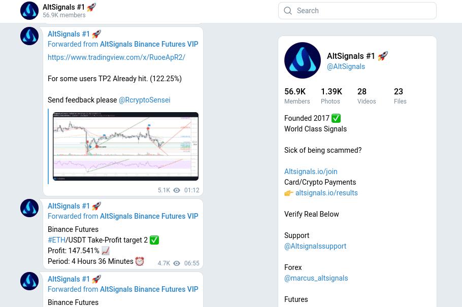 altsignals best crypto signals telegram groups