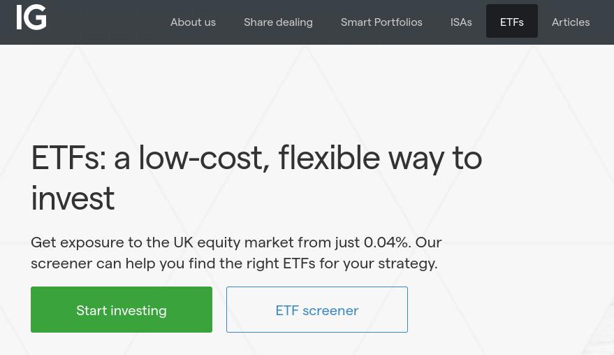 IG best etf brokerage for uk investors