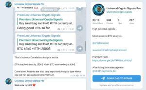 Universal Crypto Signals Telegra