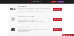 VantageFX Make a Deposit