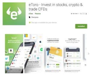 eToro Mobile App on Google Play