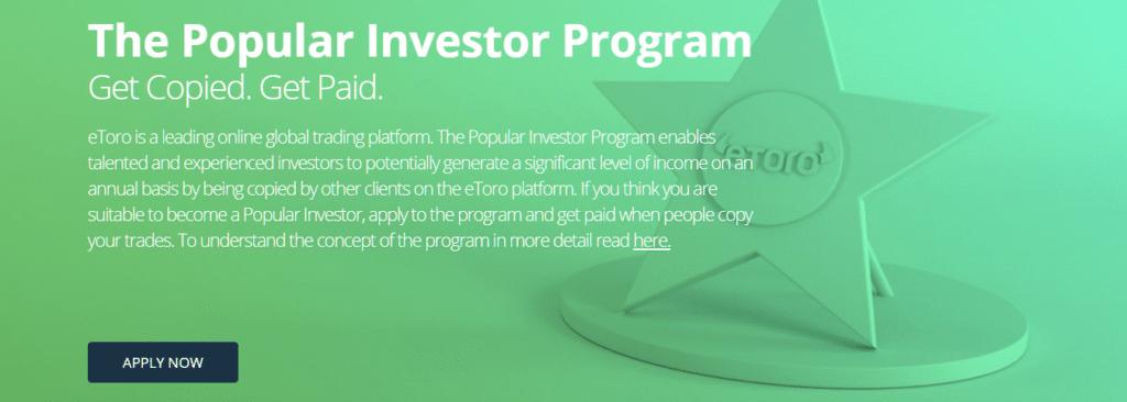 eToro Paid Investor Program
