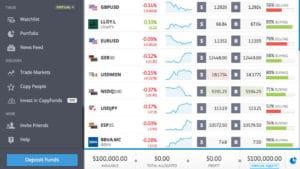 eToro Switch to Virtual Trading