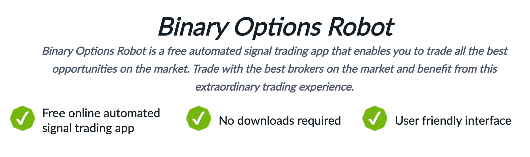 binary options robot signals