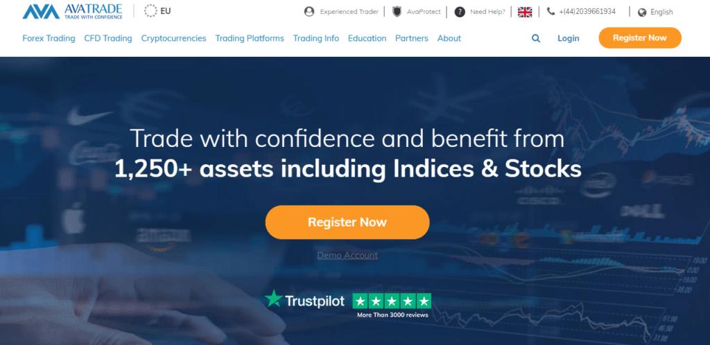 AvaTrade home page