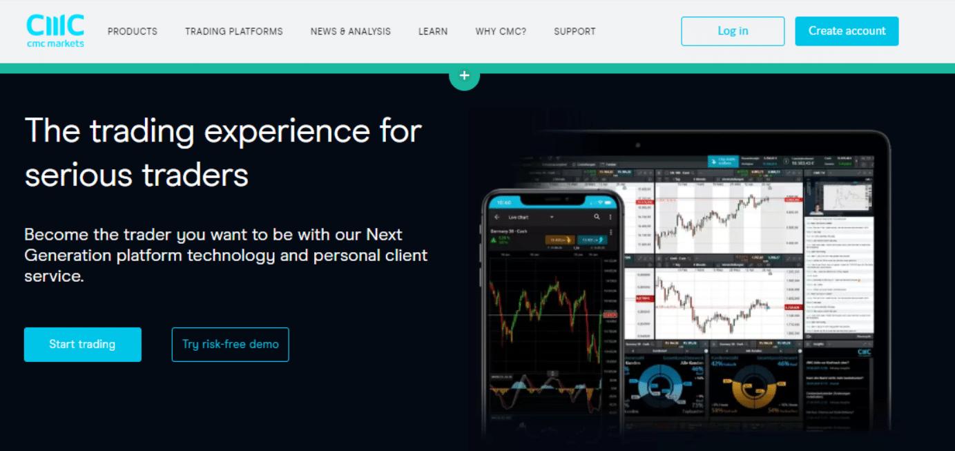 CMC Markets website