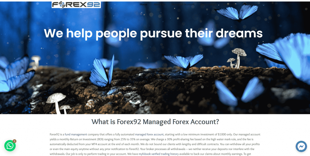 Forex92 forex managed account