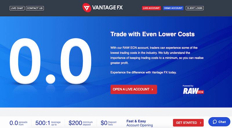 VantageFX forex scalping broker