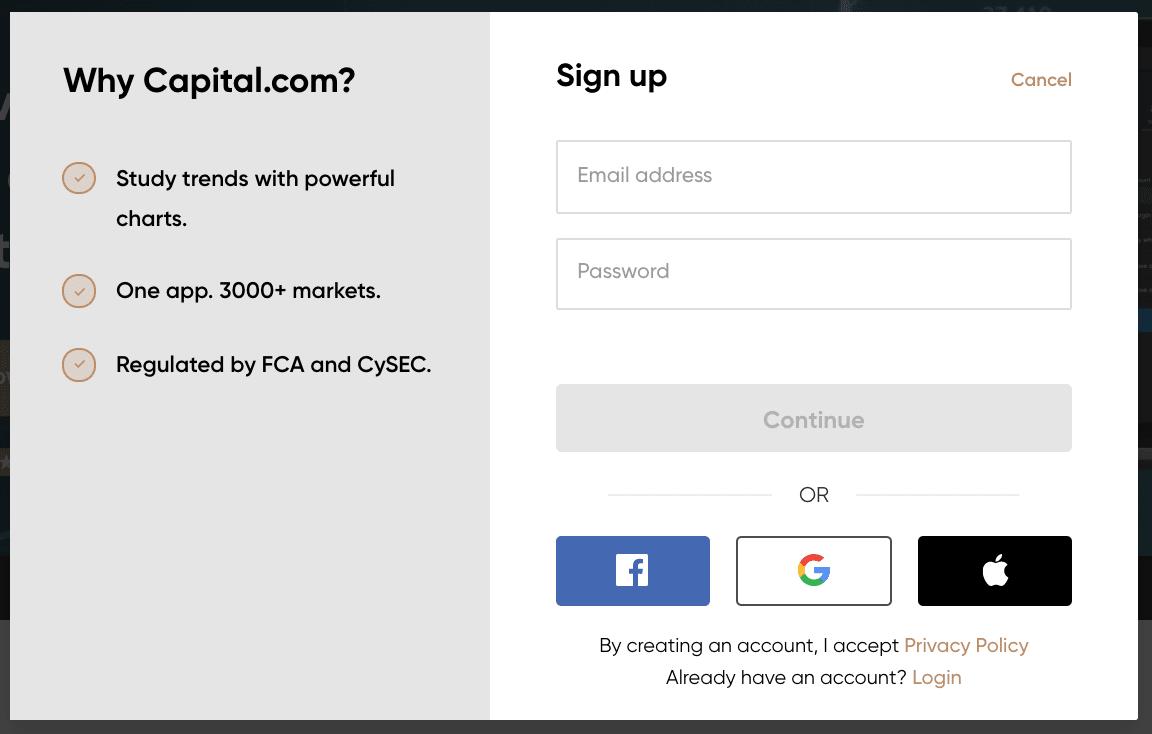 capital.com sign up