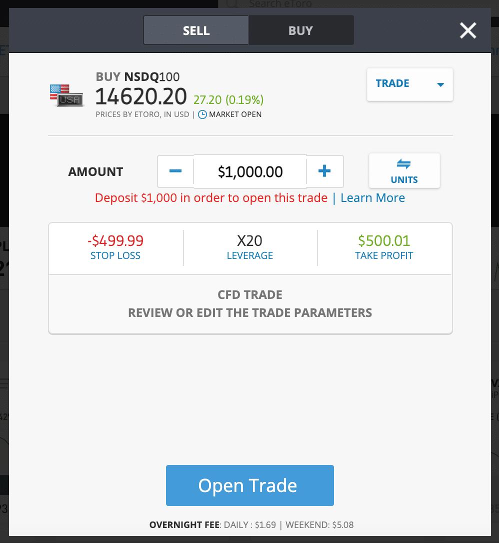 etoro trade nasdaq