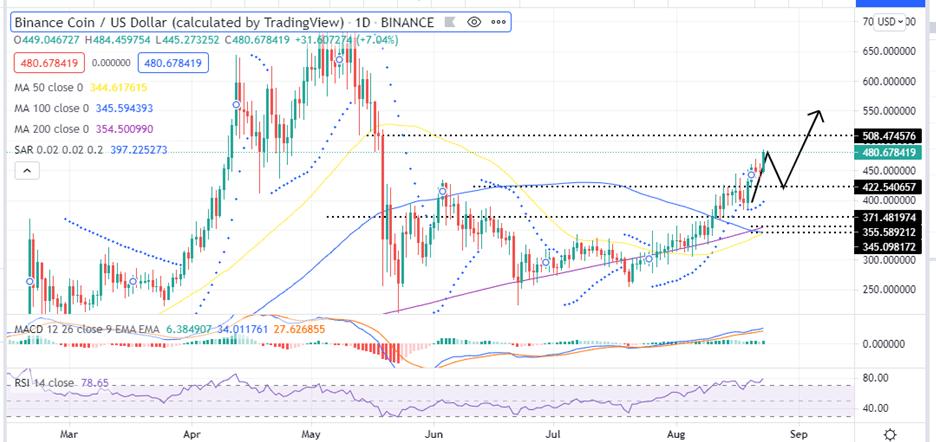 Binance Coin Price Daily Chart