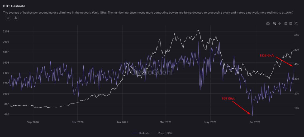 Bitcoin Price Hashrate