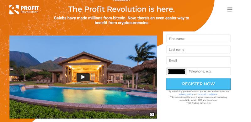 Profit Revolution registration