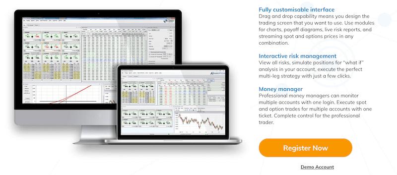AvaTrade FX options trading platform