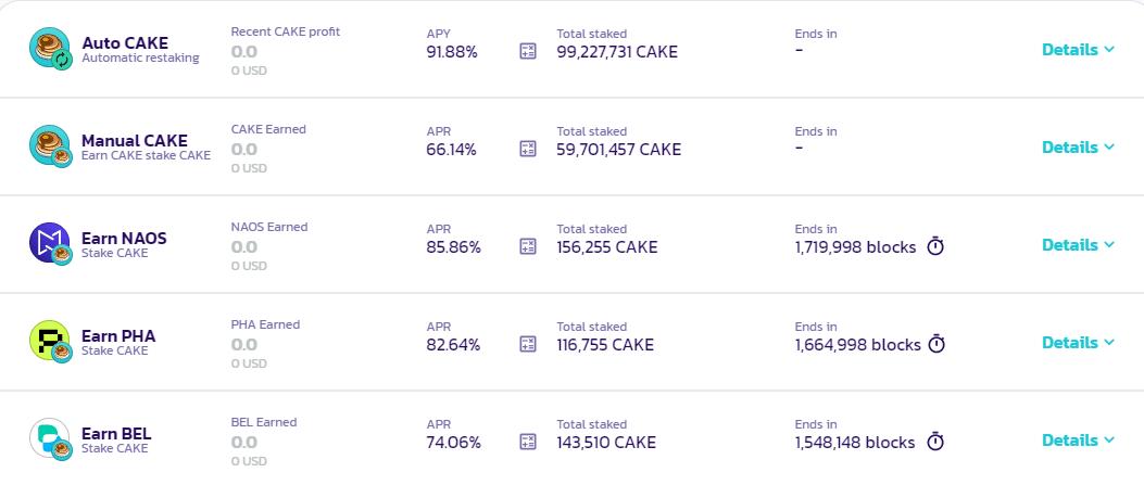 Crypto Staking on PancakeSwap