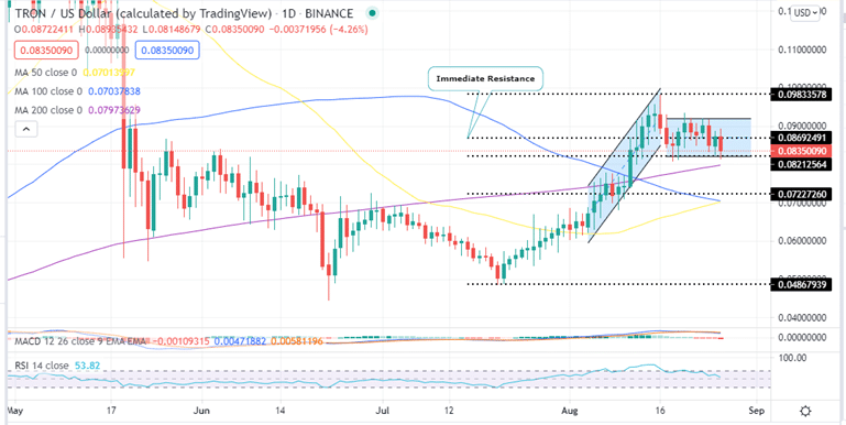 TRON Price Daily Chart