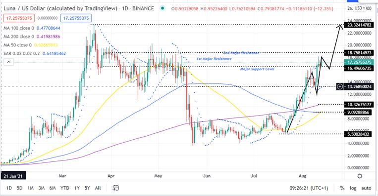 Terra Price Daily Chart