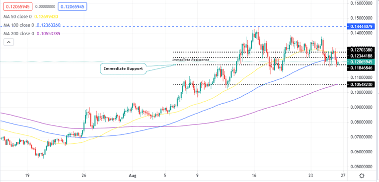 VeChain Price Four-Hour Chart