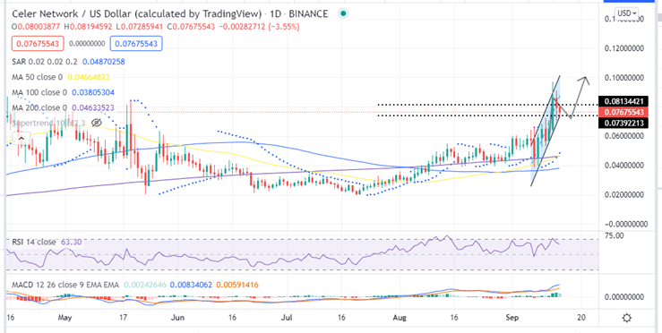Celer Price Daily Chart