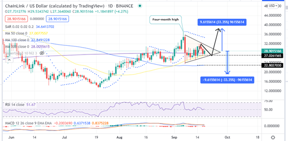 Chainlink Price Daily Chart