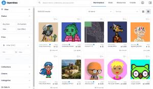 OpenSea NFT token marketplace 2