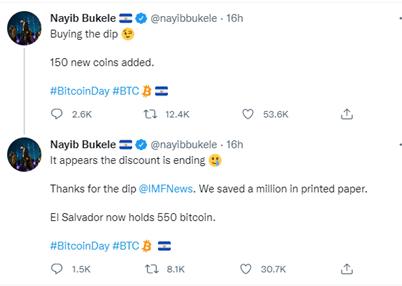 President Bukele Tweet