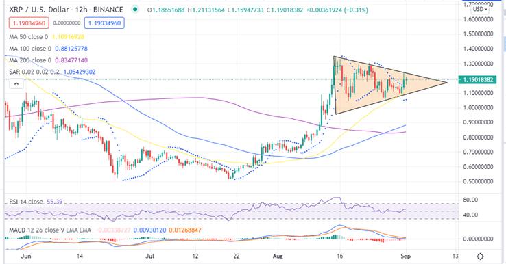 Ripple Price 12-h chart
