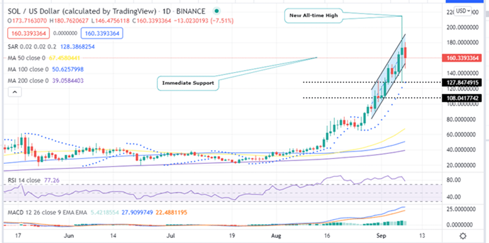 SOL Price Daily Chart